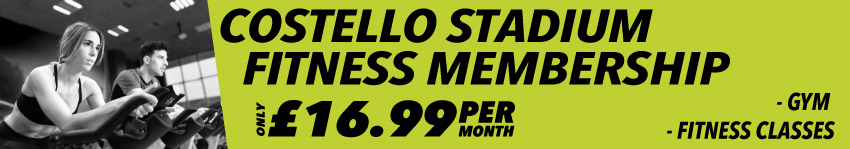 Costello Stadium Fitness Membership only £16.99 per month