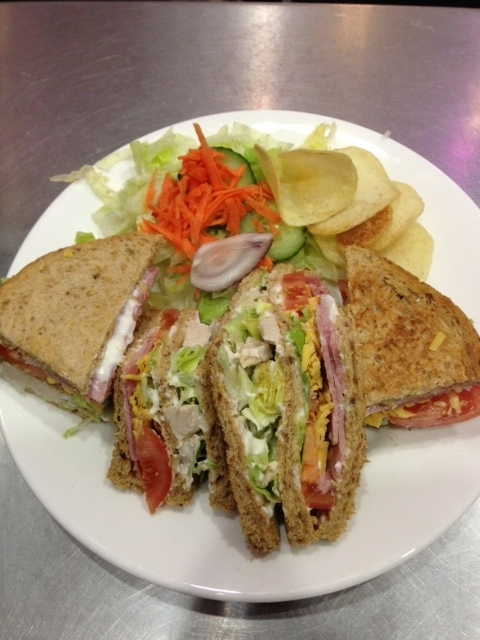 A picture of a club sandwich