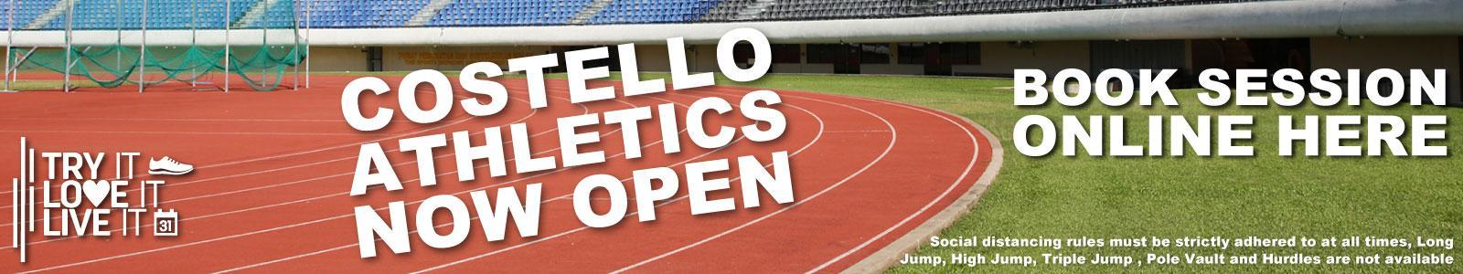 Costello Athletics Now Open