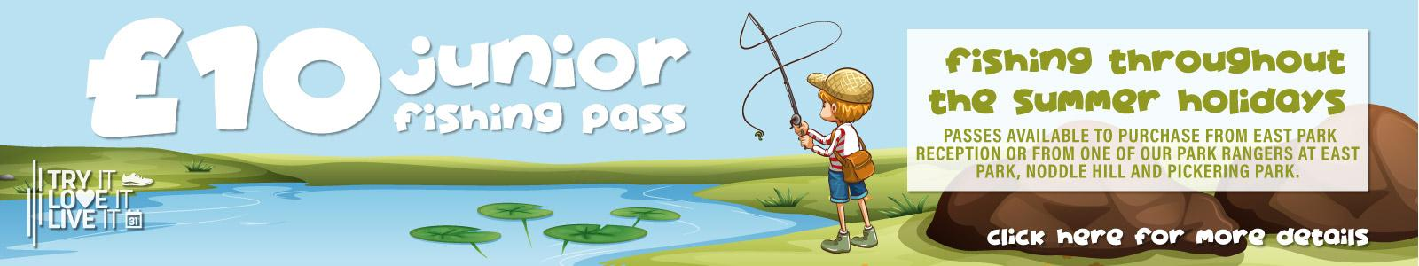 £10 Junior Fishing Banner