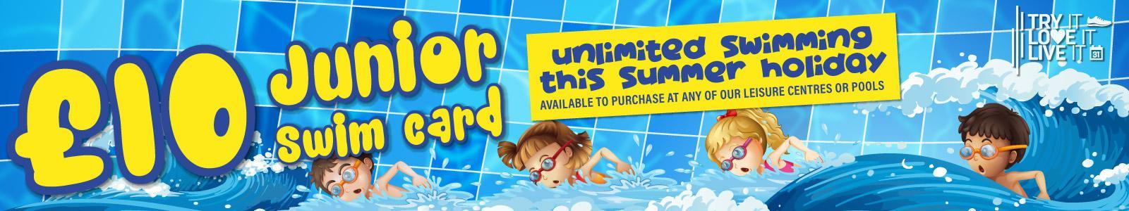 £10 Junior Swim Offer Banner