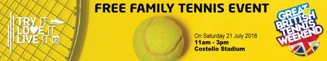 Free Family Tennis Event Image