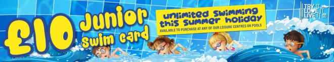 £10 Junior Swim Offer Banner